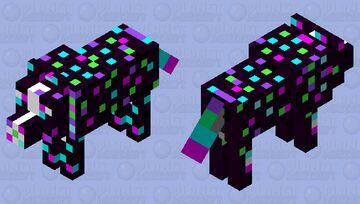 Disco wolf Minecraft Mob Skin