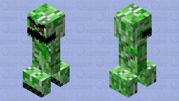 Raging Creeper Minecraft Mob Skin