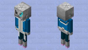 Sans the Skeleton Minecraft Mob Skin