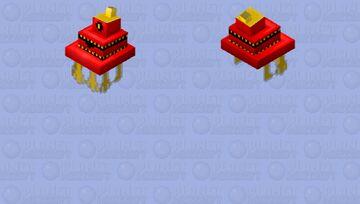 Red Bill cipher Minecraft Mob Skin