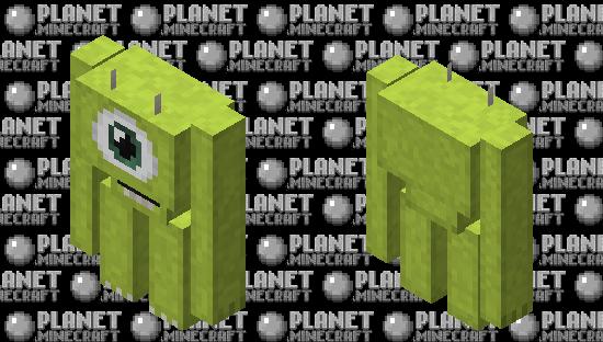 Mike Wazowski Golem Minecraft Skin