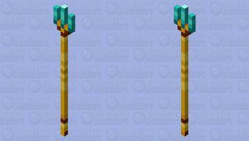 Gold and diamond trident Minecraft Mob Skin