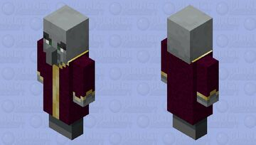 Purple Robe Evoker Minecraft Mob Skin
