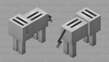 Toaster wolf Minecraft Mob Skin