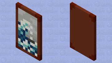 Hokusai's Great Wave Cape Minecraft Mob Skin