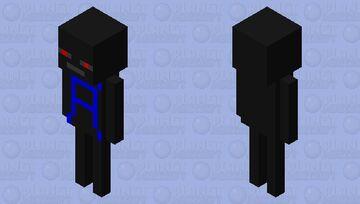 Wither Skeleton With AhnafPlayz Merch Minecraft Mob Skin