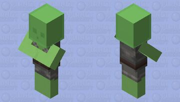 Slime Villager Minecraft Mob Skin