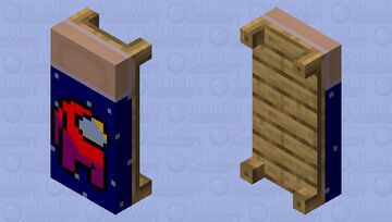 Among Us Red Player Bed Minecraft Mob Skin