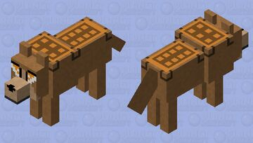 crafting table wolf Minecraft Mob Skin