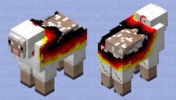 sheep with burned wool Minecraft Mob Skin
