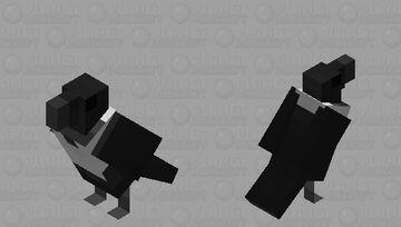 Pied Crow Minecraft Mob Skin