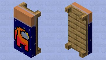 Among Us Orange Player Bed Minecraft Mob Skin
