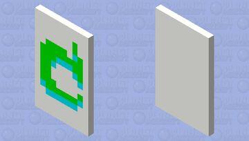 Lime green/ sky blue, white Mojang symbol Minecraft Mob Skin
