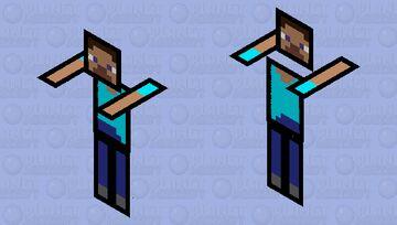 Papercissism's mascot Minecraft Mob Skin