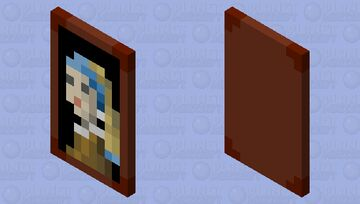 Girl With A Pearl Earring Cape Minecraft Mob Skin