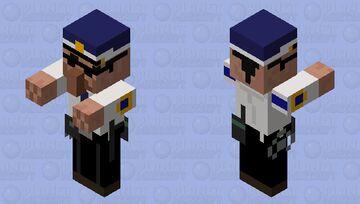 Villager Police Officer Chief Minecraft Mob Skin
