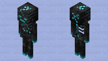Soul Charged Wither Skeleton Minecraft Mob Skin