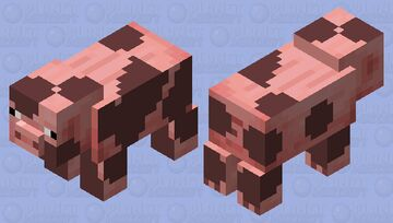 Pig Using mud to protect himself form the sun heat Minecraft Mob Skin