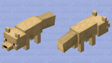 Yellow Fox Minecraft Mob Skin