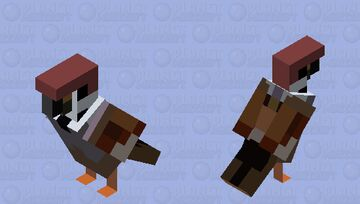 Parrot is now a Maya bird Minecraft Mob Skin