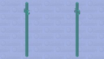 Updated Undyne's spear (undertale) Minecraft Mob Skin