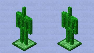Creeper Themed Armor Stand Minecraft Mob Skin