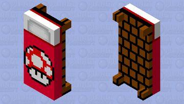 mario mushroom bed (with block back) Minecraft Mob Skin