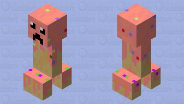 candy creeper (made with the official mod dev) Minecraft Mob Skin