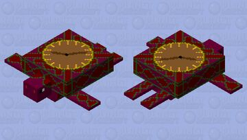 Clock turtle (my entry for turtle mob skin contest) Minecraft Mob Skin