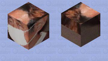 安倍晋三 Abe Shinzo Mask Minecraft Mob Skin