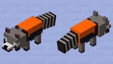 Rocket Raccoon (Marvel) Minecraft Mob Skin