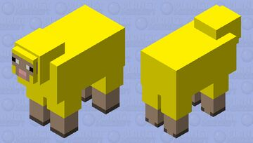 Council of Water Sheep Elder #3 Minecraft Mob Skin
