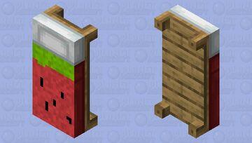 Watermelon Duvet bed Minecraft Mob Skin
