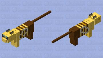 cabee 2.0 (cat that's a bee. with back noise) Minecraft Mob Skin