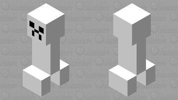 Paper Creeper Minecraft Mob Skin