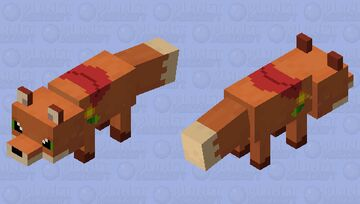 Finn/Red Wind (Dungeon Dogs) Minecraft Mob Skin