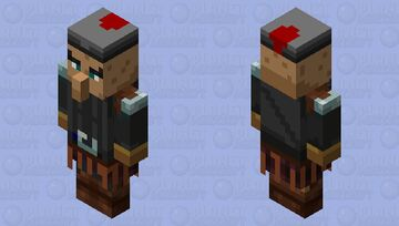 Guardian villaguer with armor Minecraft Mob Skin