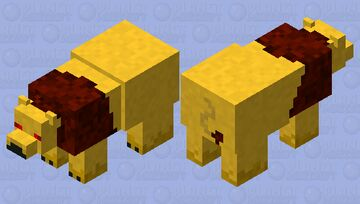 Angry Lion (hostile lion) Minecraft Mob Skin