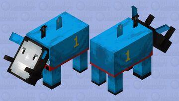 Thomas the tank engine hoglin Minecraft Mob Skin