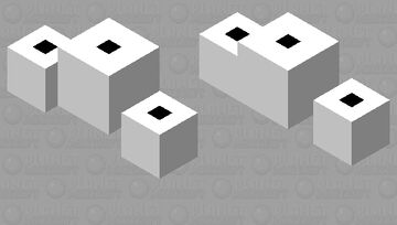 Toilet paper wither Minecraft Mob Skin