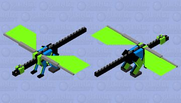 Diving Ender Dragon Minecraft Mob Skin