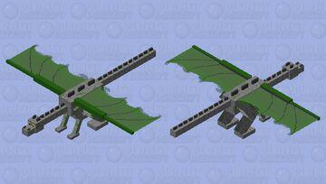 Mossy Cobblestone Ender Dragon Minecraft Mob Skin