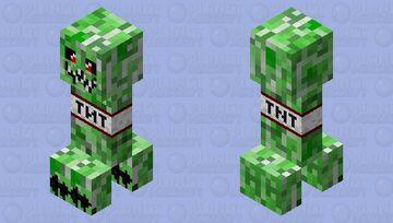 spooky creeper Minecraft Mob Skin