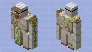 Iron Golem with Villager face mask disguise Minecraft Mob Skin
