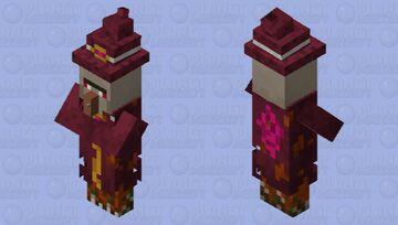 Red-Purple Witch Minecraft Mob Skin