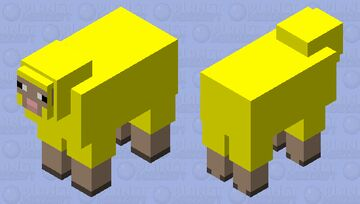 Council of Water Sheep Elder #1 Minecraft Mob Skin