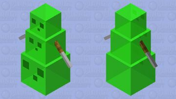 3 slime and  2 swords Minecraft Mob Skin
