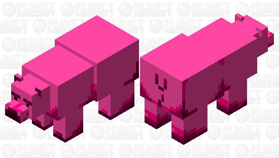 This is a random pink bear Minecraft Skin