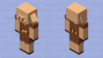 Plastic/Smooth Piglin (Java) Minecraft Mob Skin