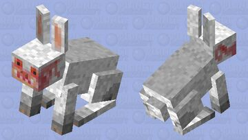 Minecraft killer Rabbit (Monty Python inspired) Minecraft Mob Skin